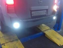 Установка дополнительного света заднего хода на Nissan Pathfinder