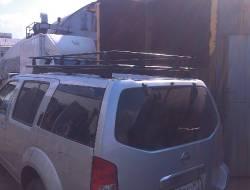 Установка экспедиционного багажника на Nissan Pathfinder